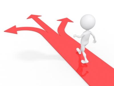 choosing a path, making a decision