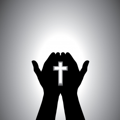 cross in hands