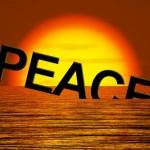 peace sinking into ocean