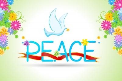 celebrate peace dove