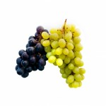 grapes, white and black