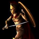 stylized warrior