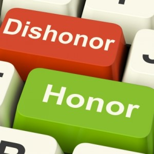 dishonor is shame